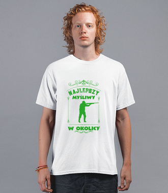 Każdy lubi się chwalić, myśliwy też - Koszulka z nadrukiem - Praca - Męska