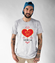 Przez zoladek do serca koszulka z nadrukiem praca mezczyzna werprint 1592 51