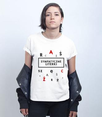 Mobilna tablica do ćwiczeń logopedycznych - Koszulka z nadrukiem - Praca - Damska