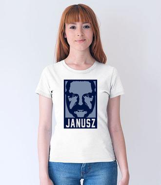 Wizerunek znanego Janusza - Koszulka z nadrukiem - Śmieszne - Damska