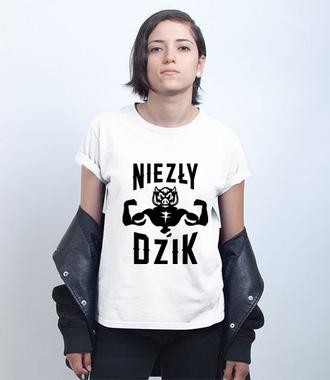 Mega dzik - Koszulka z nadrukiem - Śmieszne - Damska