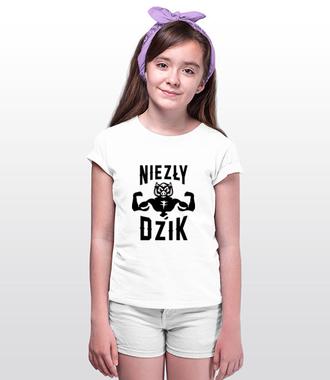 Mega dzik - Koszulka z nadrukiem - Śmieszne - Dziecięca