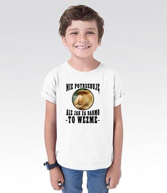 Bo Janusz po prostu lubi mieć dużo - Koszulka z nadrukiem - Śmieszne - Dziecięca