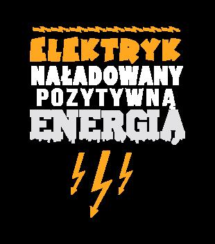 Naladowany pozytywna energia grafika na koszulke meska 1628