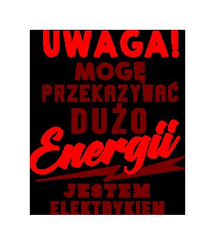 Przekazujemy duzo energii grafika na koszulke meska 1634