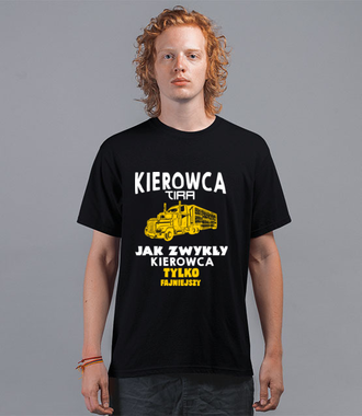 Małe przechwałki dla chłopców z dużych samochodów - Koszulka z nadrukiem - dla kierowcy tira - Męska