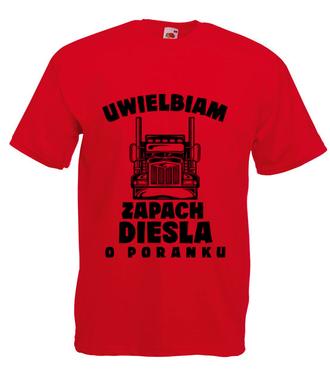 Zapach diesla - Koszulka z nadrukiem - dla kierowcy tira - Męska