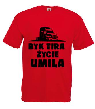 Ryk tira życie umila - Koszulka z nadrukiem - dla kierowcy tira - Męska