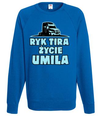 Ryk tira życie umila - Bluza z nadrukiem - dla kierowcy tira - Męska