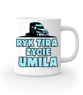 Ryk tira życie umila - Kubek z nadrukiem - dla kierowcy tira - Gadżety