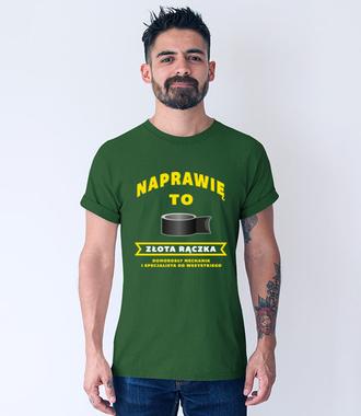 Zabawna obietnica - Koszulka z nadrukiem - Dla mechanika - Męska