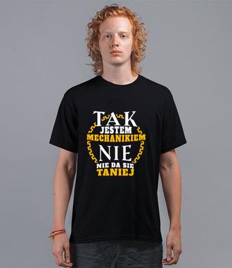 Taniej się nie da - Koszulka z nadrukiem - Dla mechanika - Męska
