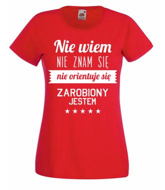 Stary tekst na nowej koszulce - Koszulka z nadrukiem - Śmieszne - Damska
