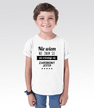 Stary tekst na nowej koszulce - Koszulka z nadrukiem - Śmieszne - Dziecięca
