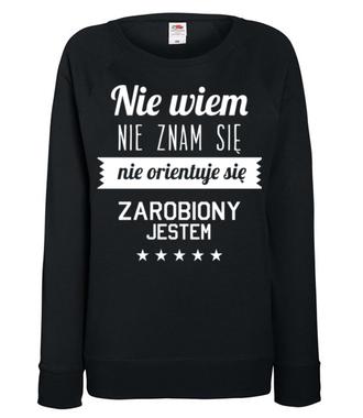 Stary tekst na nowej koszulce - Bluza z nadrukiem - Śmieszne - Damska