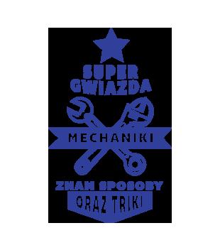 Super gwiazda mechaniki grafika na kubek 1666