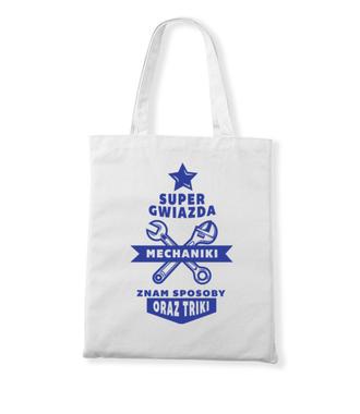 Super gwiazda mechaniki - Torba z nadrukiem - Dla mechanika - Gadżety