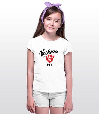 Kocham psy bezwarunkowo - Koszulka z nadrukiem - Miłośnicy Psów - Dziecięca