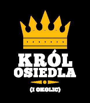 Uwaga, król osiedla nadchodzi! - Koszulka z nadrukiem - Śmieszne - Męska
