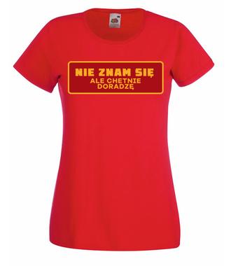 Ważne, żeby było wesoło - Koszulka z nadrukiem - Śmieszne - Damska