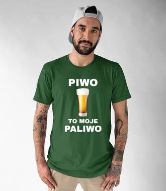Piwo to moje paliwo - Koszulka z nadrukiem - Śmieszne - Męska