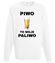 Piwo to moje paliwo bluza z nadrukiem smieszne mezczyzna werprint 1695 106