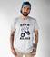 Szyk i klasa koszulka z nadrukiem smieszne mezczyzna werprint 1701 51