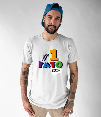 Tata najlepszy kumpel - Koszulka z nadrukiem - Dla Taty - Męska