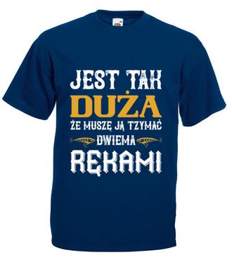 Wędkarskie przechwałki - Koszulka z nadrukiem - Wędkarskie - Męska