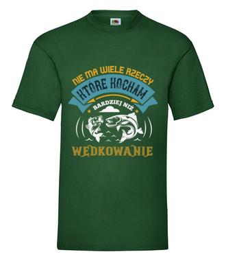 Deklaracja wędkarska na koszulce - Koszulka z nadrukiem - Wędkarskie - Męska