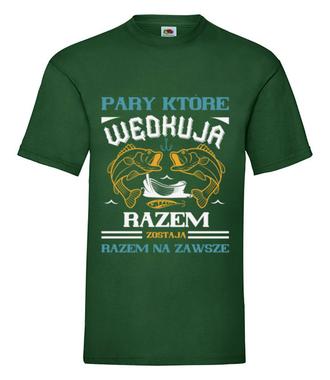 Romantyczna koszulka wędkarska - Koszulka z nadrukiem - Wędkarskie - Męska