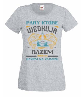 Romantyczna koszulka wędkarska - Koszulka z nadrukiem - Wędkarskie - Damska