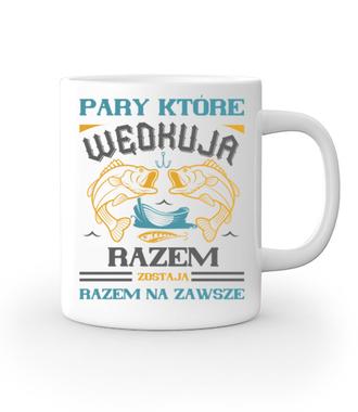 Romantyczna koszulka wędkarska - Kubek z nadrukiem - Wędkarskie - Gadżety