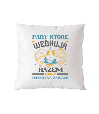 Romantyczna koszulka wędkarska - Poduszka z nadrukiem - Wędkarskie - Gadżety