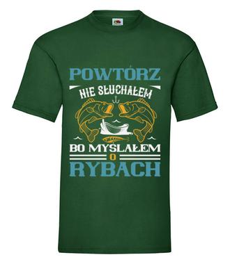Zaczepna koszulka wędkarska - Koszulka z nadrukiem - Wędkarskie - Męska