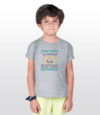 Zaczepna koszulka wędkarska - Koszulka z nadrukiem - Wędkarskie - Dziecięca