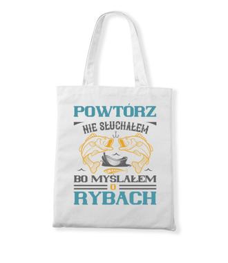 Zaczepna koszulka wędkarska - Torba z nadrukiem - Wędkarskie - Gadżety