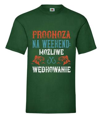 Wędkarska prognoza - Koszulka z nadrukiem - Wędkarskie - Męska