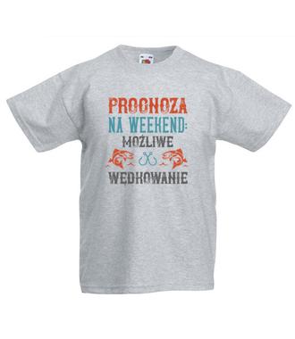 Wędkarska prognoza - Koszulka z nadrukiem - Wędkarskie - Dziecięca