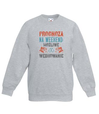 Wędkarska prognoza - Bluza z nadrukiem - Wędkarskie - Dziecięca