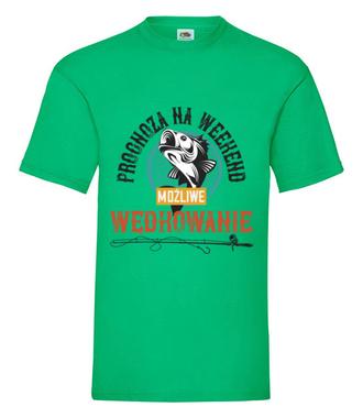 Każda pogoda dobra na wędkowanie - Koszulka z nadrukiem - Wędkarskie - Męska