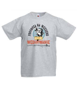 Każda pogoda dobra na wędkowanie - Koszulka z nadrukiem - Wędkarskie - Dziecięca