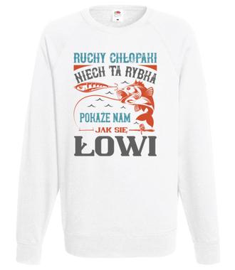 Koszulki dla ekipy wędkarskiej - Bluza z nadrukiem - Wędkarskie - Męska