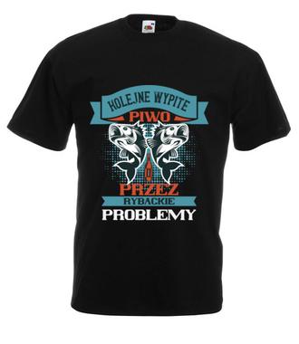 Koszulka na wędkarską modłę - Koszulka z nadrukiem - Wędkarskie - Męska
