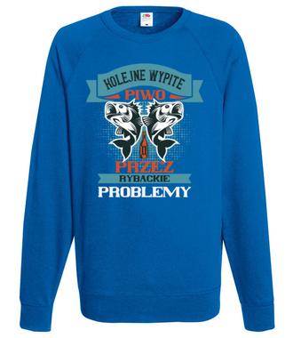 Koszulka na wędkarską modłę - Bluza z nadrukiem - Wędkarskie - Męska