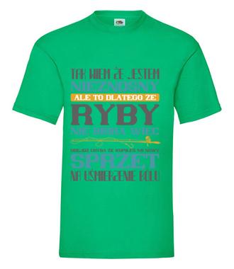 Na zły humor – koszulka wędkarska - Koszulka z nadrukiem - Wędkarskie - Męska