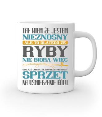 Na zły humor – koszulka wędkarska - Kubek z nadrukiem - Wędkarskie - Gadżety