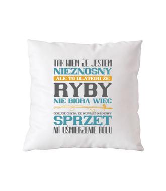 Na zły humor – koszulka wędkarska - Poduszka z nadrukiem - Wędkarskie - Gadżety