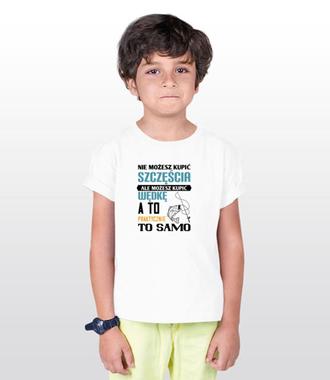 Synonim szczęścia? - Koszulka z nadrukiem - Wędkarskie - Dziecięca