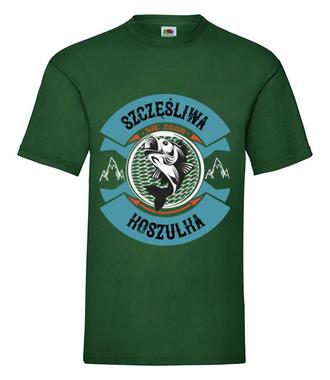 Szczęśliwa koszulka wędkarska - Koszulka z nadrukiem - Wędkarskie - Męska